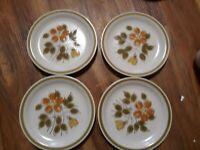 VTG Stoneware Wild Flower Japan Yellow and Orange Flowers 16 piece set