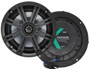 "Kicker KM65, KM Series 6.5"" 4 Ohm Marine 2-Way Coaxial Speaker (41KM654CW)"