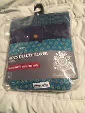 Super Bag Of (3) Cotton Boxers 100% Deluxe Men's Size Large