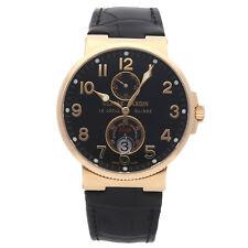 Ulysse Nardin Maxi Marine Chronometer Rose Gold Auto Mens Watch Strap 266-66/62