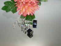 Ohrringe Ohrhänger Ohrstecker Würfel Cube Edelstein Blaufluss  044