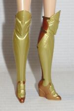 SHOES ~ BARBIE DOLL WONDER WOMAN HIPPOLYTA OVER THE KNEE COPPER GOLD HERO BOOTS