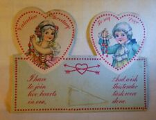 1920s Stand Up Small Valentine Two Hearts