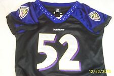 SMALL,BEAUTIFUL,NFL,WOMENS,BALT.RAVINS,EMBELLISHED,TOP,#52,R.LEWIS,JERSEY,REEBOK