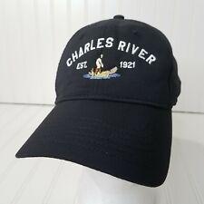 Charles River Country Club Golf Hat Newton Mass Black Strapback Cap