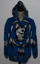 Yari Coat Siberian Husky Dog Alaskan Malamute Jacket Turquoise Black White M