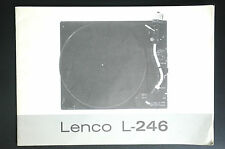 LENCO L-246 Original Bedienungsanleitung/User Manual  TOP-Zustand