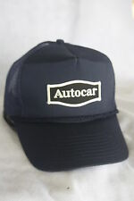 AUTOCAR  TRUCKS  HAT WITH EMBROIDERY PATCH  , ADJUSTABLE  SIZEING, NAVY BLUE