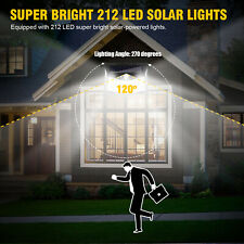 PIR 212 LED Motion Sensor Wall Light Solar Power Waterproof Outdoor Garden Lamp