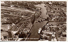Manchester Port. Mode Wheel Locks # K.597 by Valentine's. Aerial View.