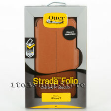 OtterBox STRADA Leather Wallet Folio iPhone 7 iPhone 8 Case (Burnt Saddle Brown)