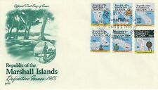 1985 Marshall Islands FDC cover Islands Maps