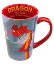 DISNEY STORE 12 oz COFFEE MUG MUSHU DRAGON MULAN CERAMIC CUP AUTHENTIC NEW GIFT