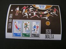 MALTA, SCOTT # 549a-551a(3), S/S 11TH WORLD CUP SOCCER 1978 ISSUE MNH