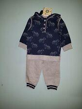 Boy's Little Me 2pc Set Grey Heather/Navy Size 12mo. NWT
