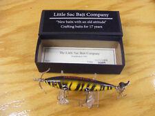Little Sac Bait Co Merimec Minnow Glasseye Lure in Tiger Stripe Color NIB