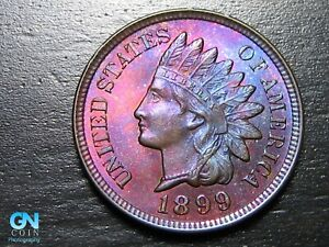 GORGEOUS COLOR! 1899 Indian Head Cent Penny  --  MAKE US AN OFFER!  #B9399