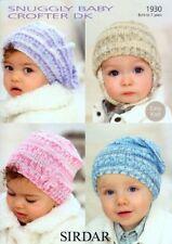 Sirdar Baby & Child Hats Knittting Pattern - 1930 - Crofter DK Double Knit