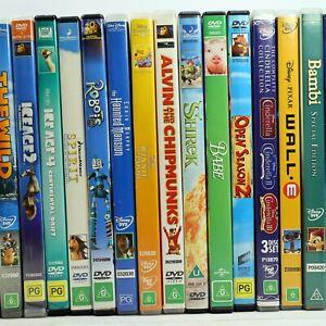 Disney Pixar Dreamworks Children Family Movie Cartoon Preowned DVD Collection
