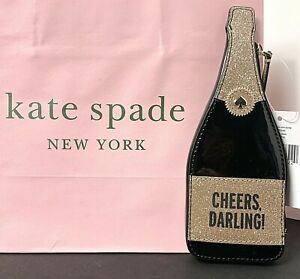 Kate Spade Chestnut Street Champagne Coin Purse Patent Leather New