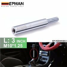3in M10X1.25 Shift Knob Extension For Manual Gear Shifter Lever Extender Sliver