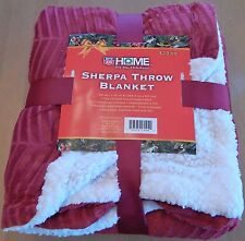 Home For The Holidays Red Sherpa Throw Blanket