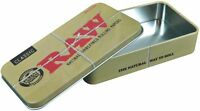 "RAW Classic Rolling Papers Logo Cigarette Storage Tin Case Box 4.5"" x 2.5"" x 1"""