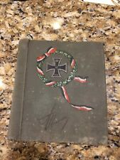 Original Ww1 German Iron Cross Photo Album - Empty No Photos