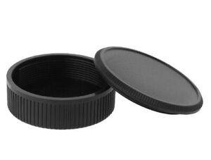 Camera Body Cover + Rear Lens Cap Pair for M39 Leica 39mm Screw Mount - UK STOCK