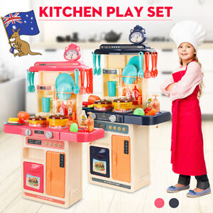 Large Kids Pretend Kitchen Play 42/44PCS Toy Role Playset with Running Water AU