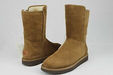 UGG COLLECTION ABREE SHORT BRUNO SUEDE SHEEPSKIN BOOTS WOMENS SIZE 10 US