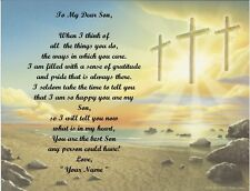 Christmas Gift/ Birthday Gift For Son Personalized Poem Gift Three Crosses