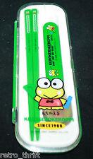 Sanrio Japan Kero kero keroppi Bento Spoon Chopsticks Set School Lunch Accesorie