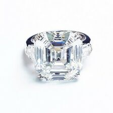 2.80 Ct Asscher & Bullet Cut Diamond 3-Stone Engagement Ring G,VS1 GIA 14K WG