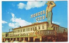Pioneer Club Vegas Vic Sign Daylight View Post Card Early 1950s Las Vegas P10560