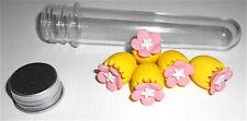 FLOWER EGG - UOVO FIORITO - tube with 5 eraser radiergummi - 5 gommine tubetto