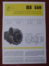 1974 DOCUMENT HISPANO-SUIZA TURBOCOMPRESSEUR HS 550 DIESEL ENGINE MOTOREN MARINE