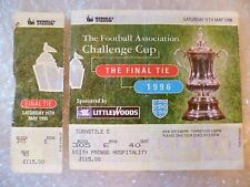 Ticket- 1996 FA Cup Final LIVERPOOL v MANCHESTER UNITED, 11th May