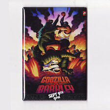 CHARLES BARKLEY VS GODZILLA - POSTER MAGNET (nike costacos ad comic movie versus
