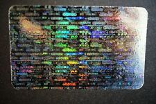 Hologram Overlays Certified  Overlay Inkjet Teslin ID Cards - Lot of 5