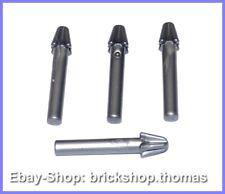 NEU // NEW 18041 Minifig Harpoon Flat Silver Lego 4 x Waffe Harpune silber
