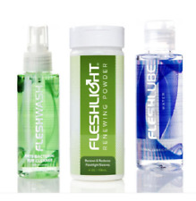 Fleshlight Fleshlube 30ml, 100ml Antibacterial Cleaner & Renewing Powder