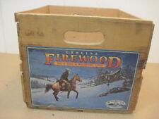 OLD VINTAGE WOOD GENUINE FIREWOOD SPLIT OAK & MADRONE LOGS CRATE BOX