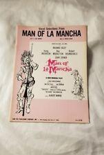 MAN OF LA MONCHA Sheet Music Vintage Selections Vocal Guitar Movie Sing Film