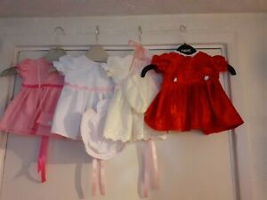 """18"""" Dolls dresses Broderie Anglais, Velvet & Lace 2 fit Baby Annabel, Baby Born"""