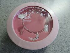 ICONIC Sterling Silver BARBIE 45th Anniversary bracelet w/4 charms~