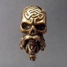 Odin Unique Bronze Bead Paracord Leather Lanyard Beads Knife Bracelet Pendant