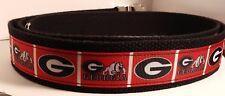 Georgia Bulldogs belt w/ military style buckle University of Georgia US Shipper
