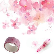Floral Washi Sticker Decor Roll Paper Masking Adhesive Tape DIY Crafts Gifts LG