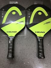 (2) Head Extreme Tour Graphite Face Pickleball Paddles Black And Neon Yellow